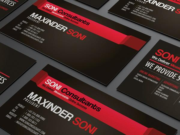 Soni Consultants // Business Card design