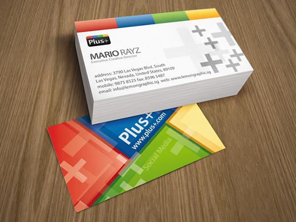 Google+ social media business card