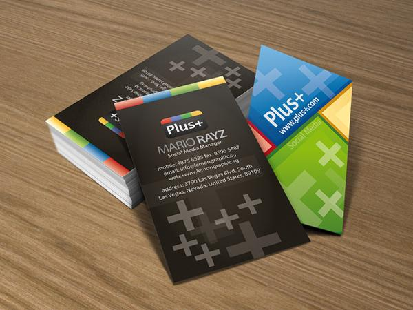 Google+ social media business card