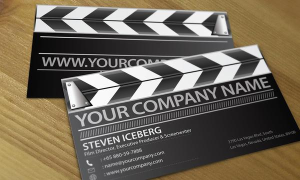 Film director creative business card design