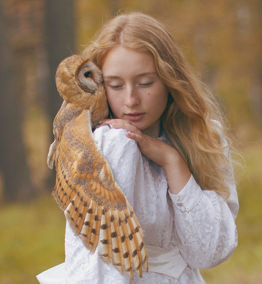 Russian Photographer Katerina Plotnikova Takes Magical Photos With REAL Animals
