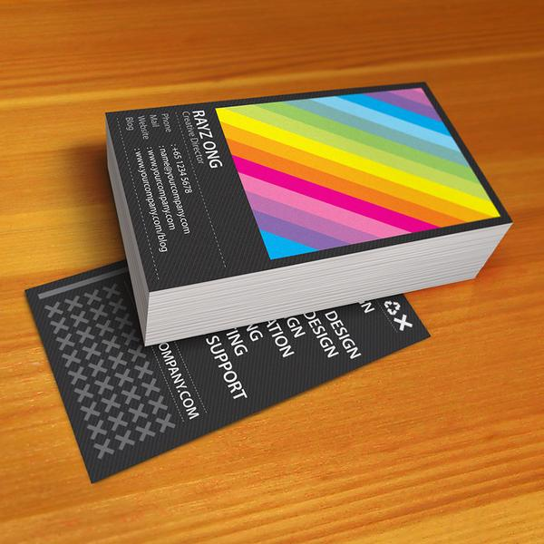 Rainbow business card design
