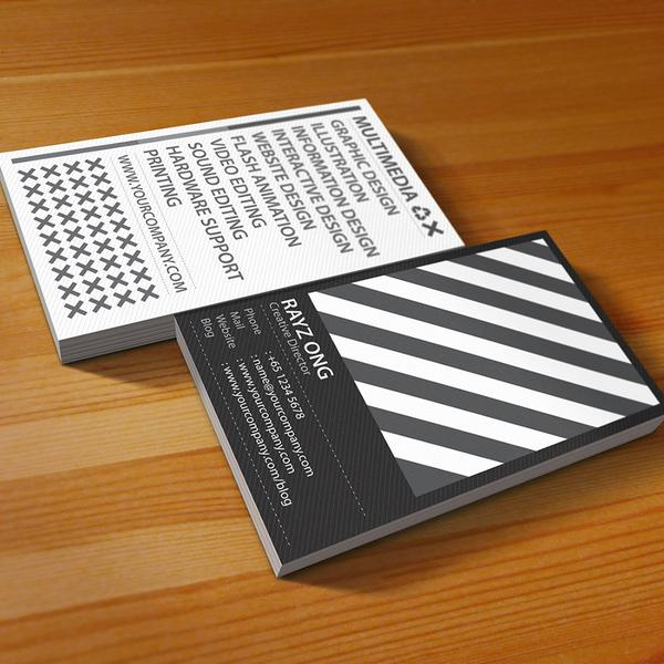 Rainbow business card design