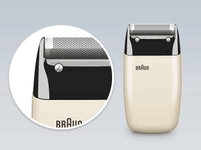 Braun Electric Shaver S60 by Dieter Rams, 1958 [PSD] by Kevin Andersson