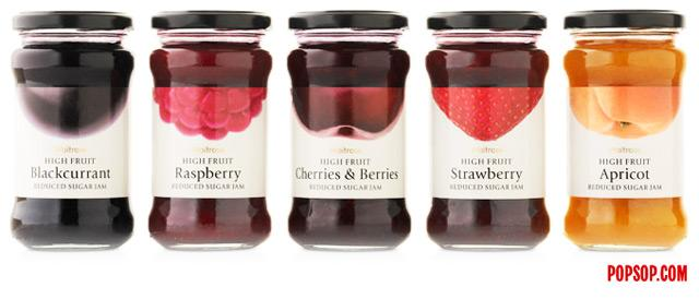 Waitrose Fruit Jams – POPSOP.COM. Brand news. Brand design. Package design. Branding agencies. Brand experts