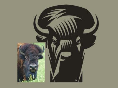 Buffalo Bison logo (WIP) by Gal Yuri