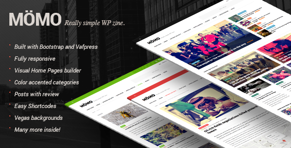 WordPress - MOMO - Really Simple WP Zine | ThemeForest
