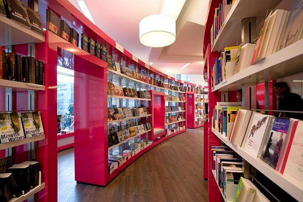 Modern Paagman Book Store by CUBE Architects in Netherlands