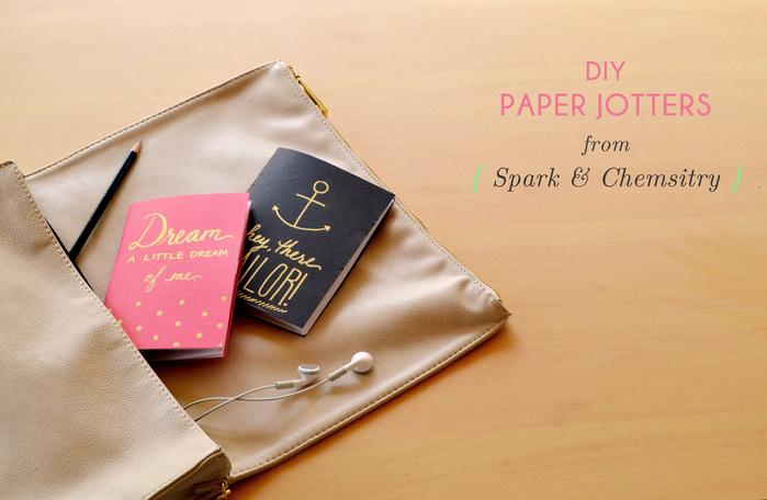 DIY Paper Jotters - Spark & Chemistry