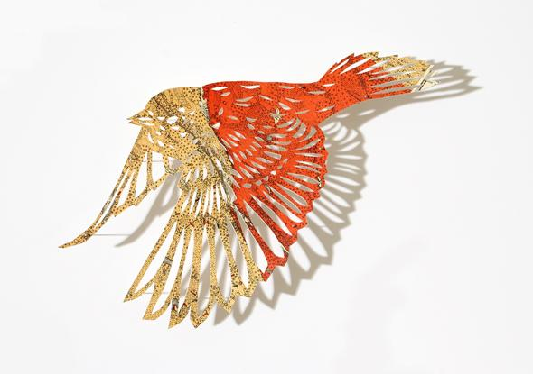 Claire Brewster's PaperCut Map Birds | Trendland: Fashion Blog & Trend Magazine