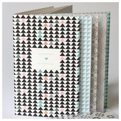 Papier Tigre 6 cartes motifs géométriques