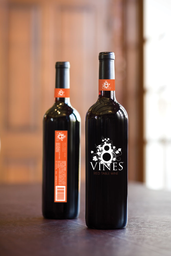 8 Vines - Wine Packaging Blog - The Dieline Wine