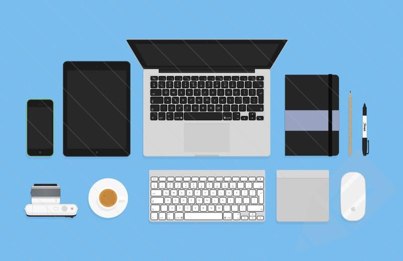 Flat Designer Essentials (Psd) : Medialoot