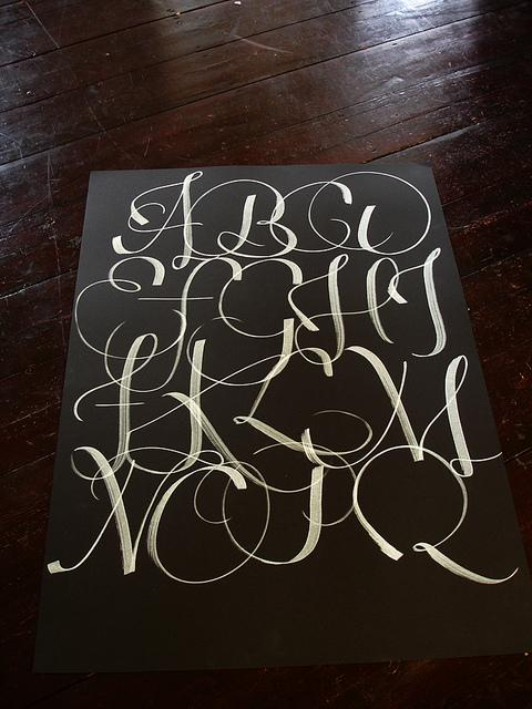 Calligraphic alphabet | Flickr - Photo Sharing!