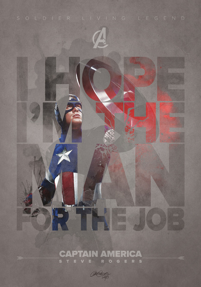 Captain America –The Avengers– Stretched Canvas by Laura Racero | Inspiration DE