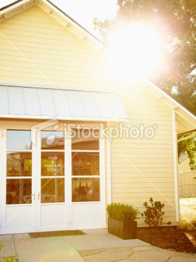Sun shining on health club at luxury resort hotel | iStock