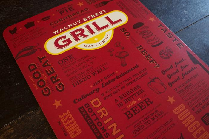 Art of the Menu: Walnut Street Grill