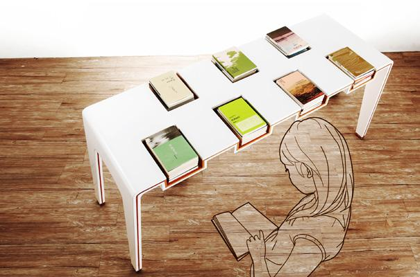 Exhibi-Table for Library by Lu Chieh-Hua & Cheng Tzu-Hao » Yanko Design