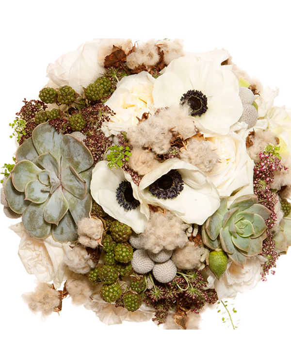 Eco-chic bridal bouquet | OneWed