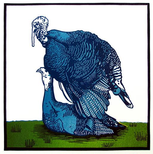 more linocuts on Illustration Served