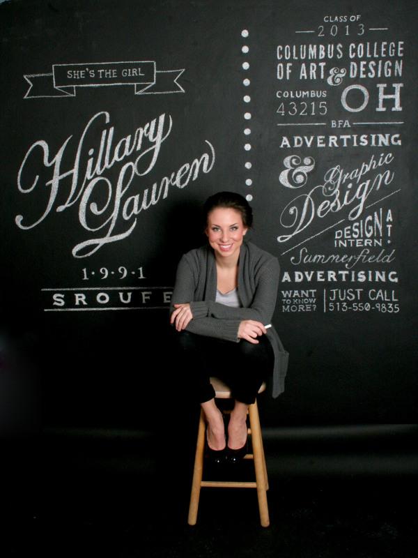 Resume Chalk Wall by Hillary Sroufe | Inspiration DE