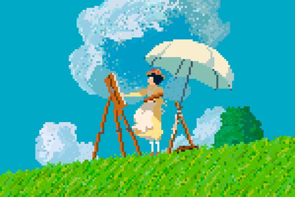 Pixel Art Series pays Tribute to Studio Ghibli Characters