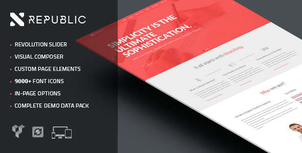 WordPress - Republic - Creative One Page Multi-Purpose Theme | ThemeForest