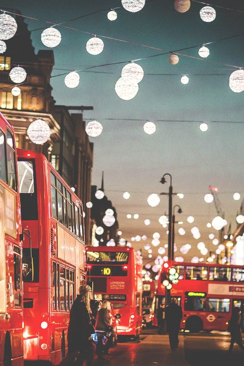 Christmas lights in London | via Tumblr | Captured | Pinterest ...