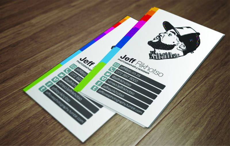 Self Illustration Clean Business Card - Business Cards on Creattica: Your source for design inspiration