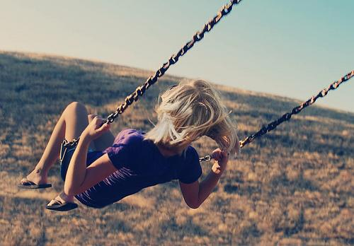 cool, girl, photography, swing - inspiring picture on Favim.com