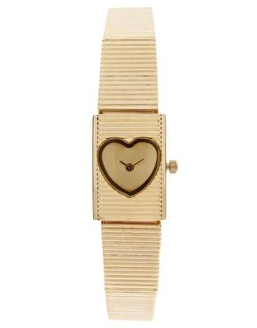 ASOS | ASOS Watch with Vintage Look Heart Dial at ASOS
