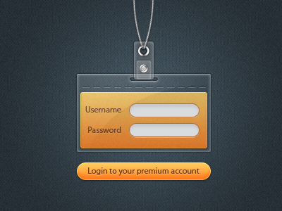 Login Badge by Arron Hunt