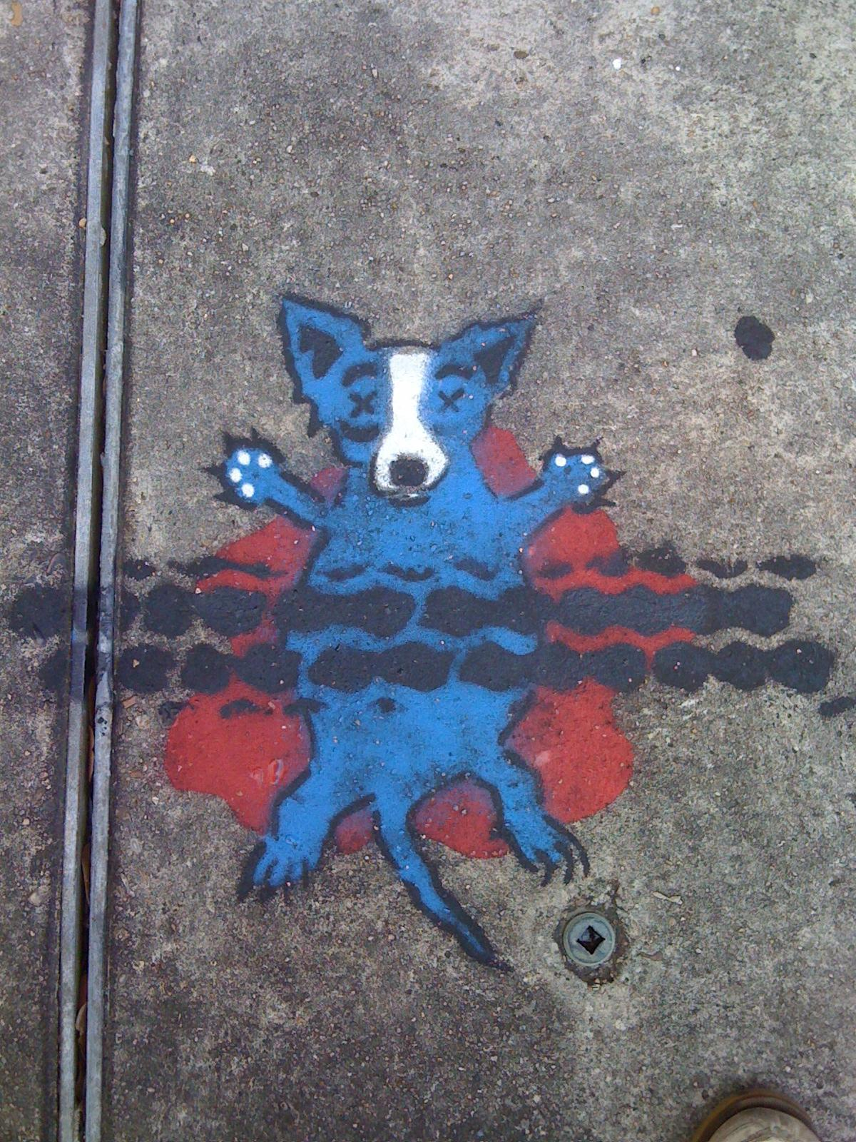 Rodrique's Blue Dog Becomes Roadkill In New Orleans | Wooster Collective