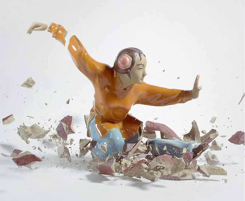 Crashing Porcelain Figurines by Martin Klimas | Best Bookmarks
