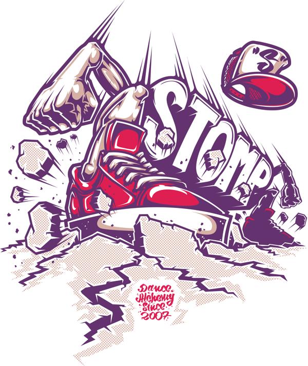 STOMPING STOMP – T-shirt print for Stomp (dance academy). | Inspiration DE