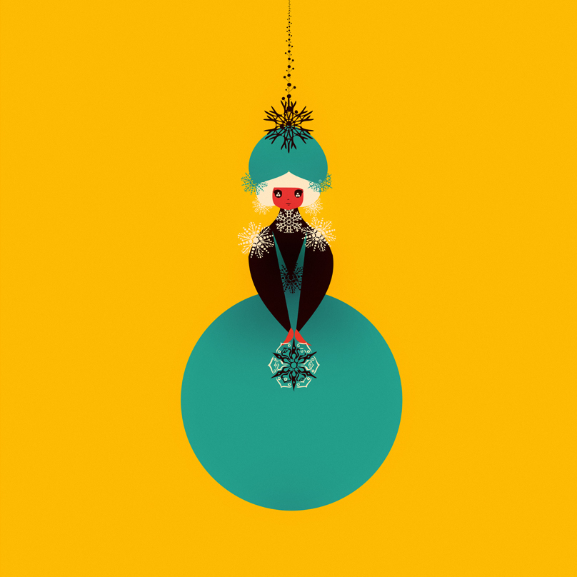 christmas dolls : Cristian Grossi fashion illustrator and designer