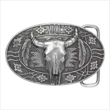 Pewter Southwestern Belt Buckle