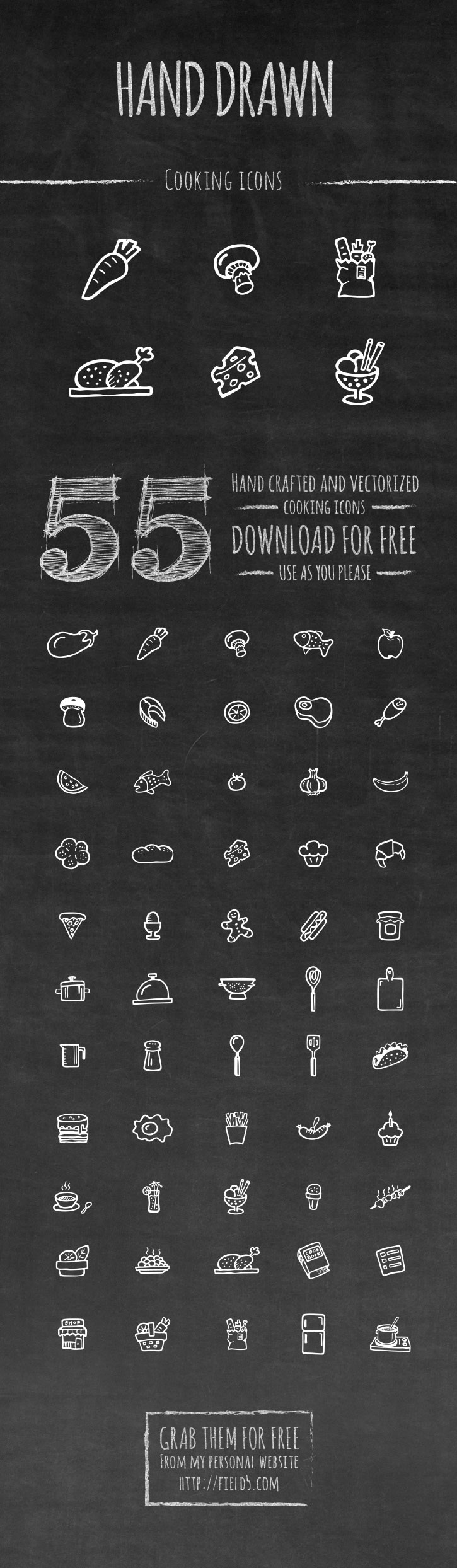 Free Cooking Icon Set - FreebiesXpress