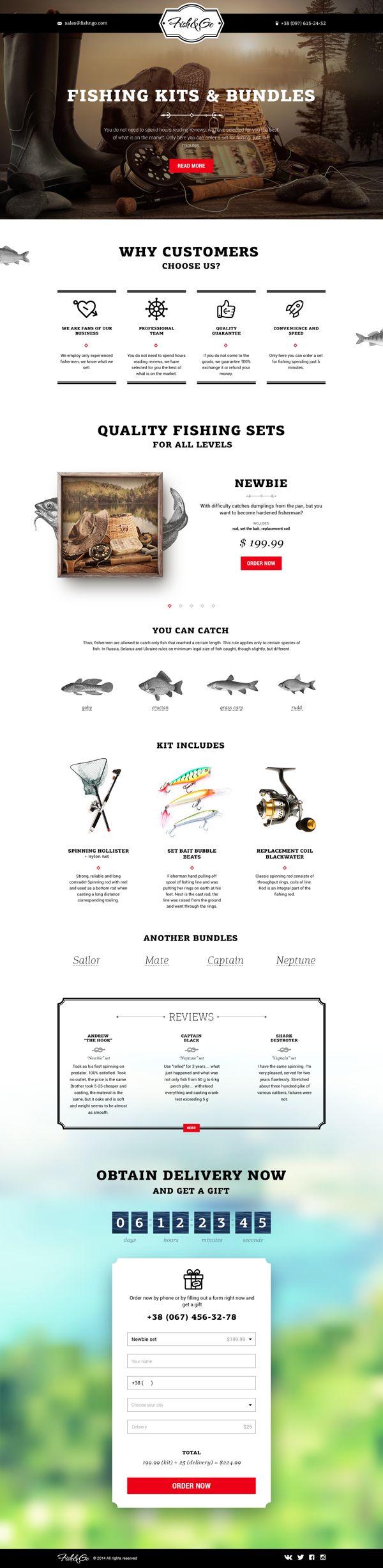 Fish&Go Landing page | Inspiration DE