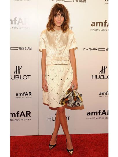 Alexa Chung in Louis Vuitton at the amfAR New York Gala To Kick Off Fall 2012 Fashion Week: Style: teenvogue.com