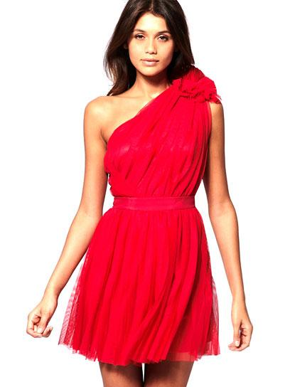 ASOS Pleated Dress with One-Shoulder: Jewel Tone Dresses for Prom: Style: teenvogue.com