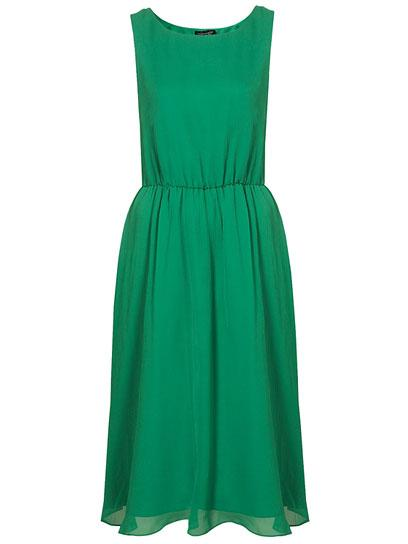Topshop Silk Cute Skirted Midi Dress: Jewel Tone Dresses for Prom: Style: teenvogue.com