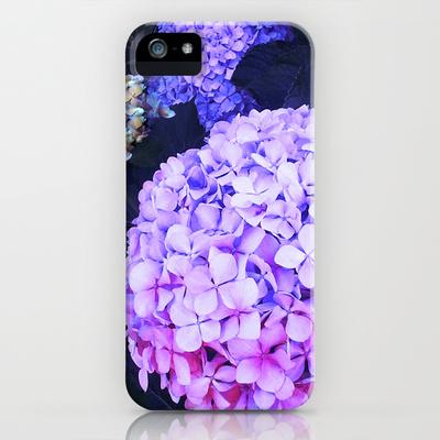 Hydreangea Night iPhone & iPod Case by Nina May | Society6