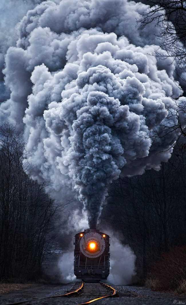 Vintage Trains by Matthew Malkiewicz