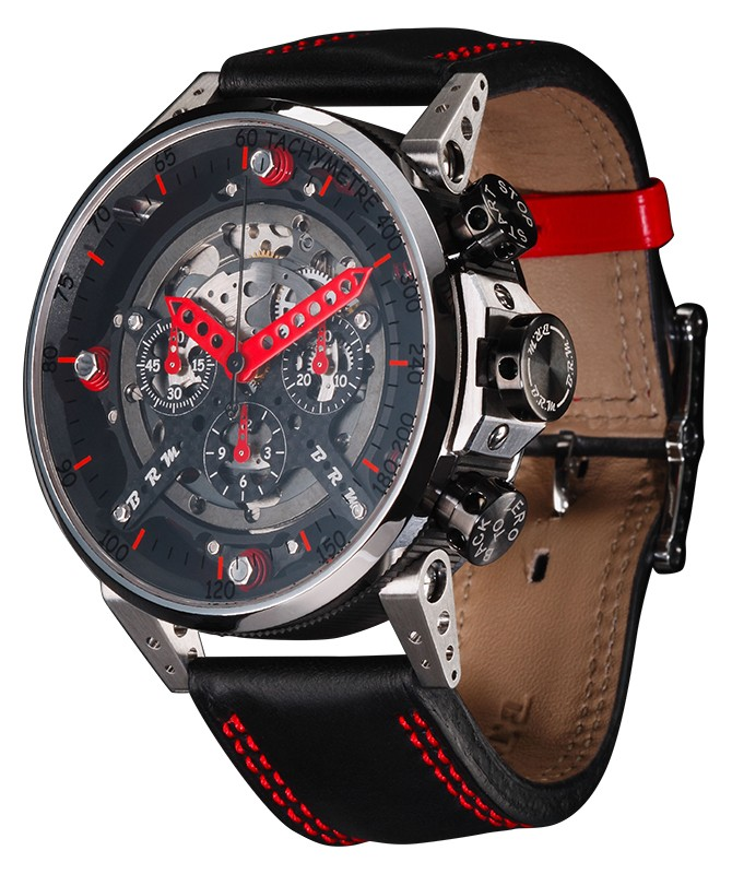 BRM RACING WATCH CT48 AUTO ETA VALJOUX 7753 BASE CHRONO TITANIUM CASE CT-48-AJ - CT-48 - BRM
