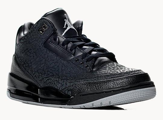 Nike Air Jordan Rétro 3 noires «Black Flips» | La boite verte