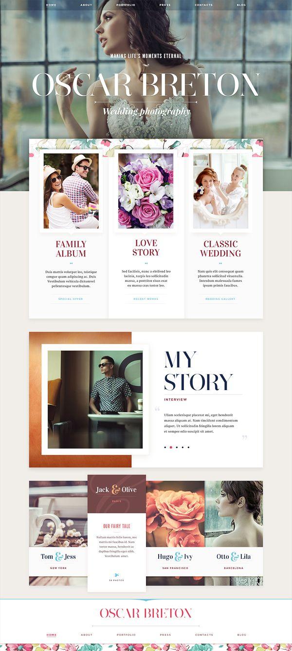Website design: part 1 by Mike | Inspiration DE