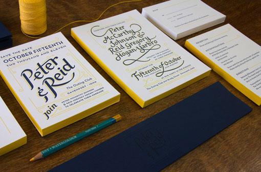 design work life » Perky Bros LLC: Peter and Reid Wedding Invitation