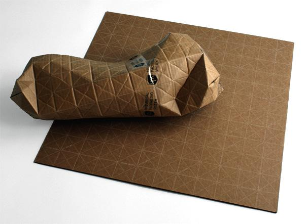 UPACKS - Universal Packaging System, Recyclable Corrugated Cardboard Sheet by Patrick Sung » Yanko Design
