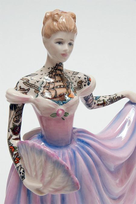 Tattooed Porcelain Figurines